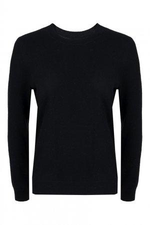 Пуловер черного цвета с меховой аппликацией Max & Moi. Цвет: черный