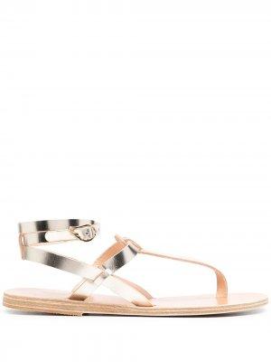 Сандалии с эффектом металлик Ancient Greek Sandals. Цвет: золотистый