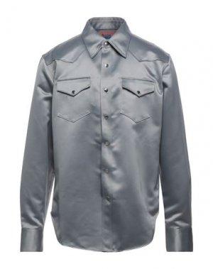 Pубашка ACNE STUDIOS. Цвет: серый