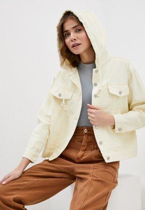 Куртка джинсовая Fadas. Цвет: желтый