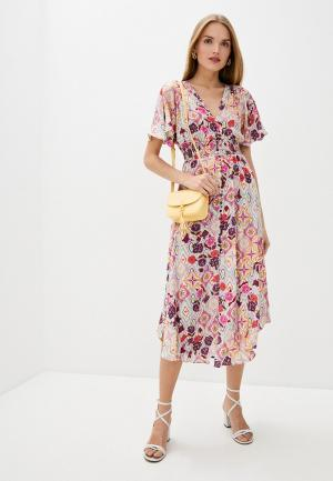 Платье Pinko. Цвет: розовый