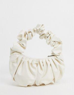 Белая сумка на плечо с большими оборками -Белый ASOS DESIGN