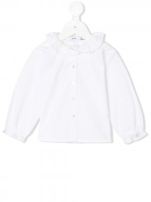 Блузка с оборками Knot. Цвет: белый