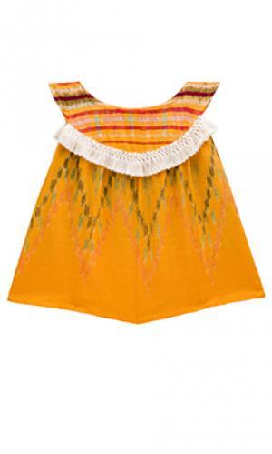 Платье-майка addison Cleobella. Цвет: оранжевый