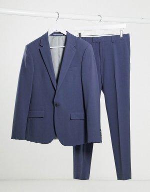 Синий приталенный пиджак -Голубой River Island