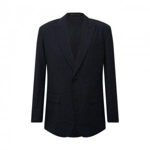 Шерстяной пиджак Valentino. Цвет: синий