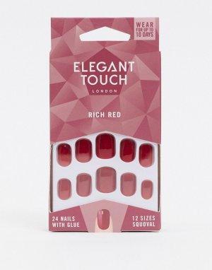 Накладные ногти (Rich Red)-Мульти Elegant Touch