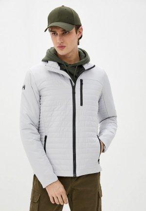 Куртка утепленная Helly Hansen CREW INSULATOR JACKET. Цвет: серый