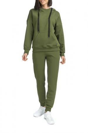 Спортивный костюм Gloss. Цвет: зеленый