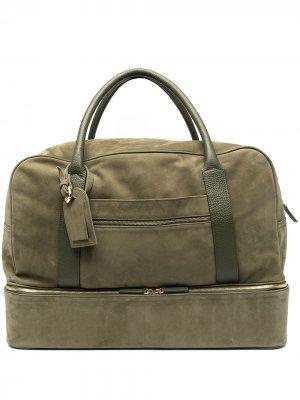 Дорожная сумка на молнии Eleventy. Цвет: зеленый