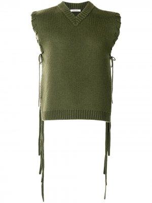 Жилет с V-образным вырезом и шнуровкой Craig Green. Цвет: зеленый