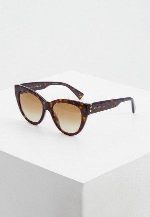 Очки солнцезащитные Gucci GG0460S 002. Цвет: коричневый