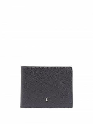 Фактурный кошелек с логотипом Montblanc. Цвет: черный