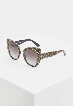 Очки солнцезащитные Dolce&Gabbana DG4319 32148G. Цвет: золотой