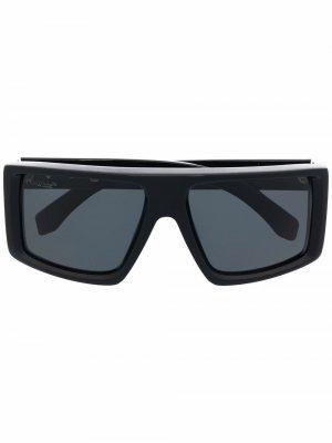 Солнцезащитные очки Alps в квадратной оправе Off-White. Цвет: черный