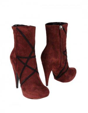 Полусапоги и высокие ботинки JASMINE DI MILO. Цвет: баклажанный