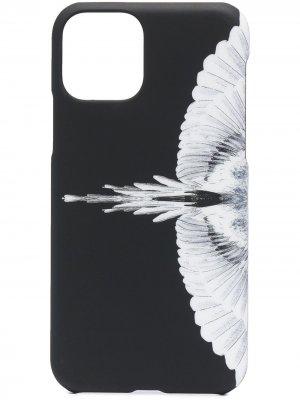 Чехол для iPhone 11 Pro с принтом Wings Marcelo Burlon County of Milan. Цвет: черный