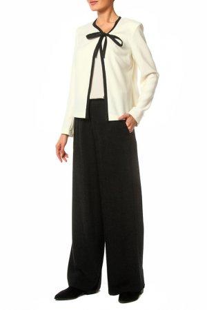 Костюм: жакет, брюки Adzhedo. Цвет: молочный, черный