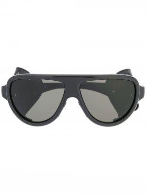 Солнцезащитные очки-авиаторы Moncler Eyewear. Цвет: черный