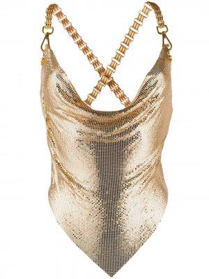 Chain detail strappy top Giuseppe Di Morabito. Цвет: золотистый