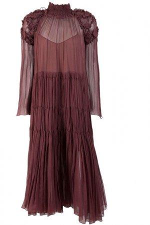Платье Chloe. Цвет: бордовый