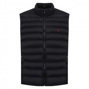 Утепленный жилет Polo Ralph Lauren. Цвет: чёрный