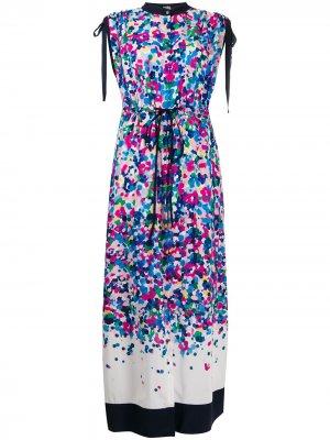 Платье макси с эффектом деграде Karl Lagerfeld. Цвет: синий