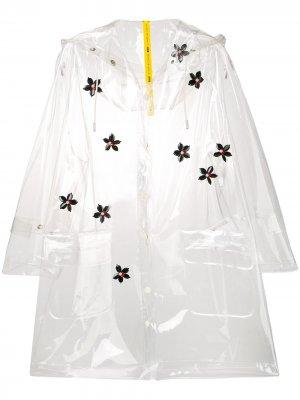 Виниловый дождевик Moncler. Цвет: белый