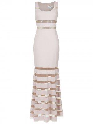 Tulle panelled maxi dress Gloria Coelho. Цвет: розовый