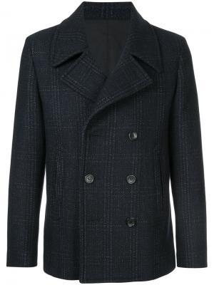 Двубортное пальто Cerruti 1881. Цвет: синий