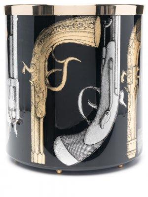 Ароматическая свеча с принтом Fornasetti. Цвет: черный