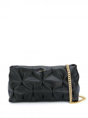 Стеганая сумка на плечо Goodie Coccinelle. Цвет: черный