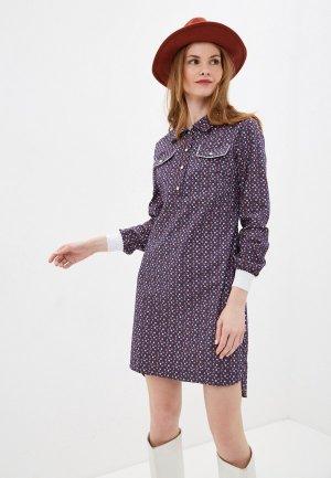 Платье джинсовое Olegra. Цвет: синий