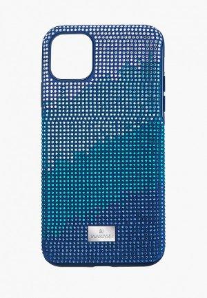 Чехол для iPhone Swarovski® 11 PRO MAX Crystalgram. Цвет: синий