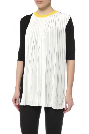 Блуза Vionnet. Цвет: черный, белый, желтый