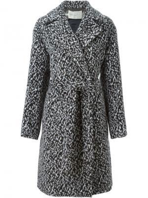 Пальто с поясом Aquilano.Rimondi. Цвет: чёрный