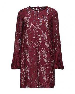 Короткое платье DENNY ROSE. Цвет: красно-коричневый