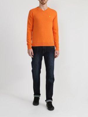 Хлопковый пуловер Ritter Jeans. Цвет: oranzhevyy