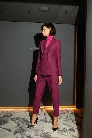 Укороченные брюки классического кроя VASSA&Co. Цвет: розовый