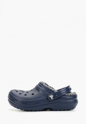 Сабо Crocs Classic Lined Clog K. Цвет: синий