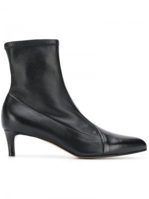 Ботильоны с носочной вставкой Antonio Barbato. Цвет: черный