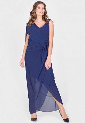 Платье Filigrana. Цвет: синий