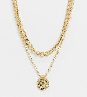 Ожерелье с позолотой 14 карат и подвеской inspired Reclaimed Vintage