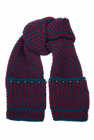 Шерстяной шарф 7II. Цвет: коричневый