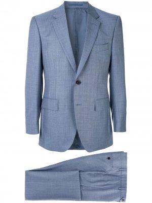 Костюмный пиджак строгого кроя Gieves & Hawkes. Цвет: синий