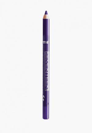 Карандаш для глаз Seventeen водостойкий т.37 с витамин.Е Super Smooth W/P&Longstay пурпурный. Цвет: фиолетовый