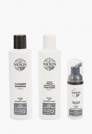 Набор для ухода за волосами Nioxin система 2: шампунь (150 мл), кондиционер маска (40 мл). Цвет: прозрачный