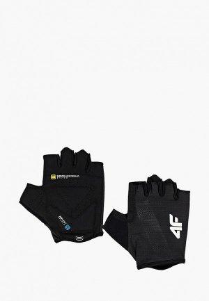 Перчатки для фитнеса 4F. Цвет: черный