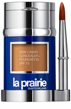 Тональный крем и корректор с экстрактом икры SPF 15, Satin Nude La Prairie. Цвет: бесцветный