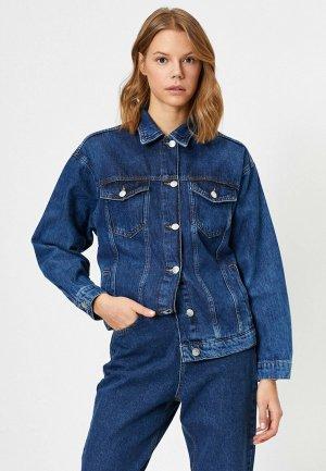 Куртка джинсовая Koton. Цвет: синий